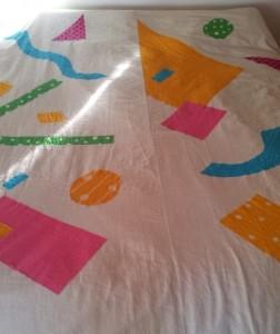 bright bedspread